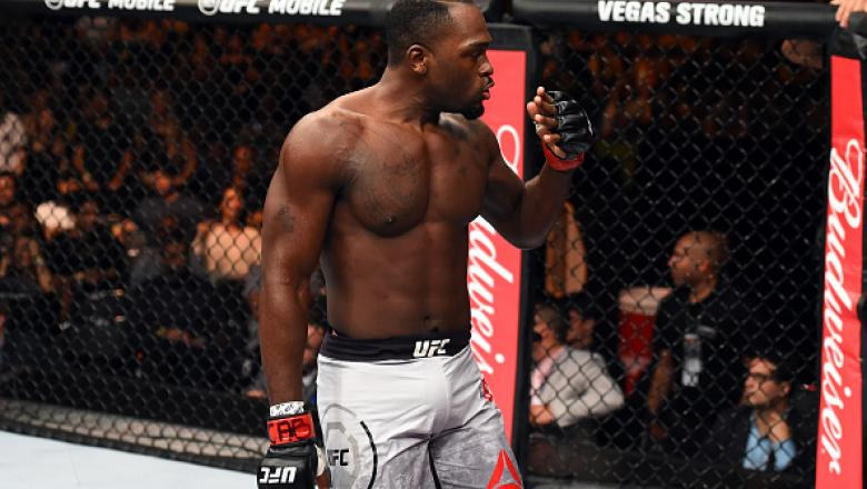 SAO PAULO, BRAZIL - OCTOBER 28:  Derek Brunson reacts after defeating Lyoto Machida of Brazil in their middleweight bout during the UFC Fight Night event inside the Ibirapuera Gymnasium on October 28, 2017 in Sao Paulo, Brazil. (Photo by Josh Hedges/Zuffa