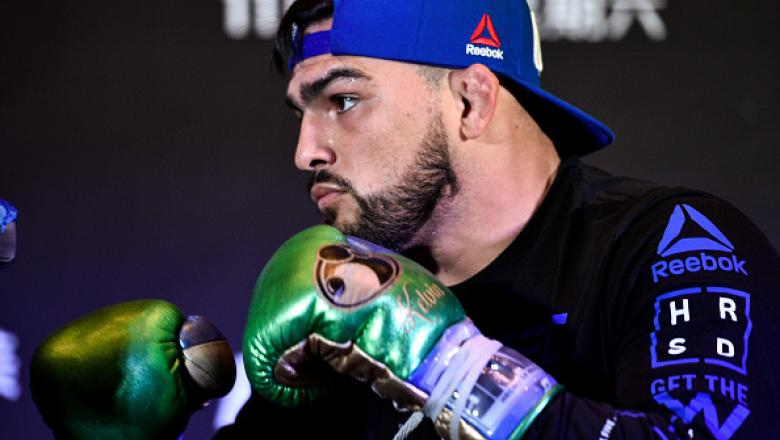 SHANGHAI, CHINA - NOVEMBER 23:  Kelvin Gastelum holds and open workout session for the media inside the Kerry Hotel Pudong on November 23, 2017 in Shanghai, China. (Photo by Brandon Magnus/Zuffa LLC via Getty Images)