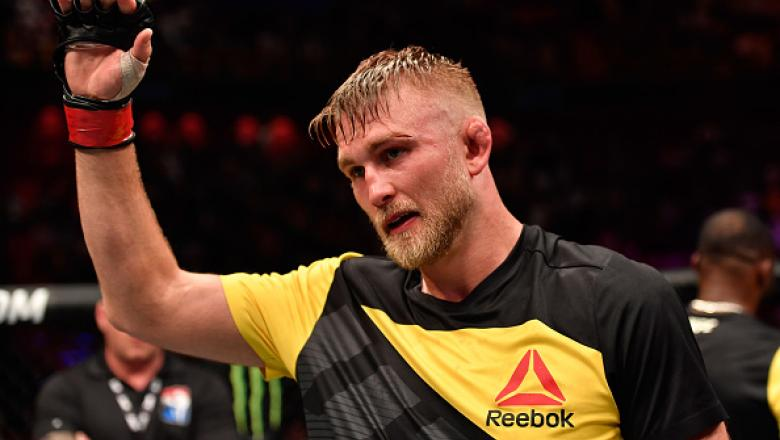 STOCKHOLM, SWEDEN - MAY 28:  Alexander Gustafsson celebrates his knockout victory over Glover Teixeira in their light heavyweight fight during the UFC Fight Night event at the Ericsson Globe Arena on May 28, 2017 in Stockholm, Sweden. (Photo by Jeff Botta