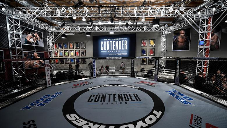 LAS VEGAS, NV - JULY 25:   A general view of the Octagon during Dana White's Tuesday Night Contender Series at the TUF Gym on July 25, 2017 in Las Vegas, Nevada. (Photo by Brandon Magnus/DWTNCS)