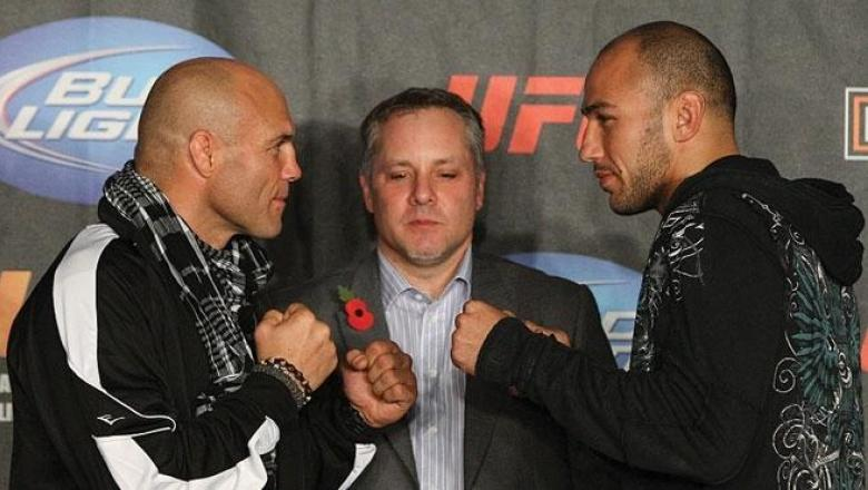 UFC 105 Press Conference Couture and Vera