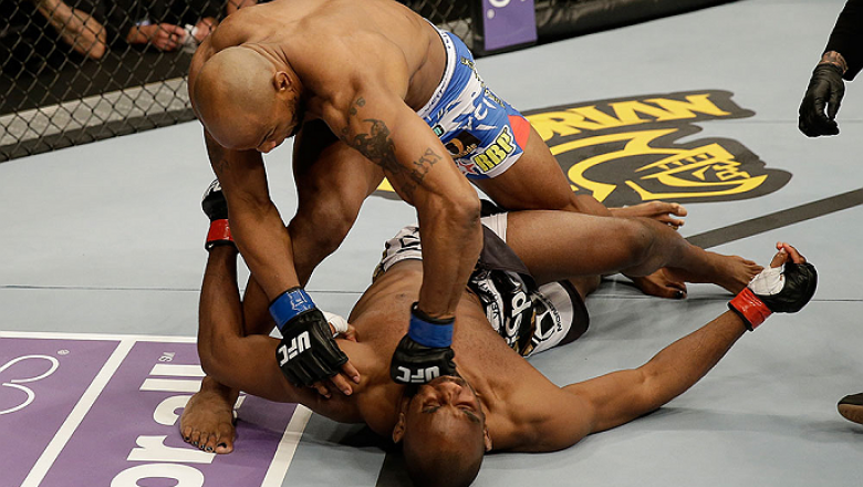 SAN JOSE, CA - APRIL 20:   Yoel Romero (top) punches Clifford Starks in their middleweight bout during the UFC on FOX event at the HP Pavilion on April 20, 2013 in San Jose, California.  (Photo by Ezra Shaw/Zuffa LLC/Zuffa LLC via Getty Images)  *** Local