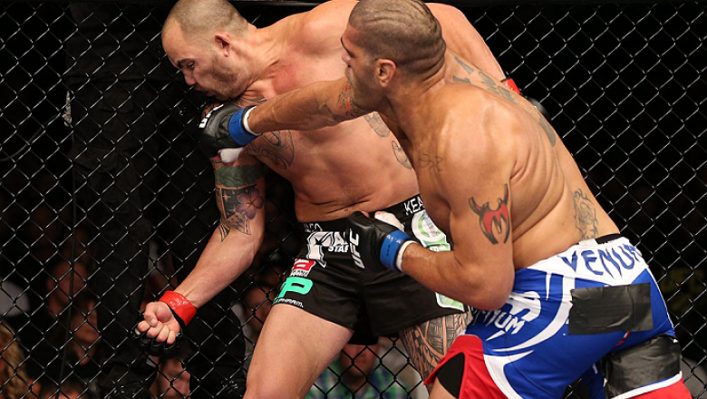 MINNEAPOLIS, MN - OCTOBER 05:  (R-L) Antonio Silva lands the knockout punch against Travis Browne during their heavyweight fight at the UFC on FX event at Target Center on October 5, 2012 in Minneapolis, Minnesota.  (Photo by Josh Hedges/Zuffa LLC/Zuffa L