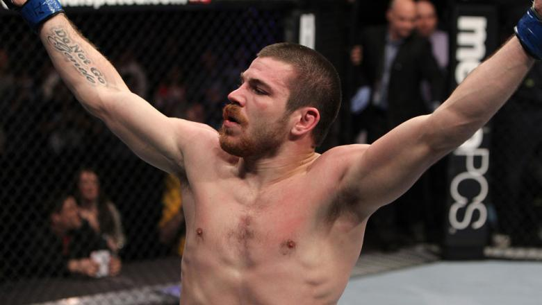 NASHVILLE, TN - JANUARY 20:  Jim Miller celebrates after defeating Melvin Guillard by submission during the UFC on FX event at Bridgestone Arena on January 20, 2012 in Nashville, Tennessee.  (Photo by Josh Hedges/Zuffa LLC/Zuffa LLC via Getty Images)