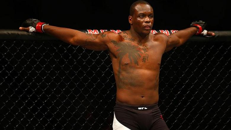 LAS VEGAS, NV - FEBRUARY 06:  Ovince Saint Preux prepares to fight Rafael 'Feijao' Cavalcante of Brazil in a light heavyweight bout during the UFC Fight Night event at MGM Grand Garden Arena on February 6, 2016 in Las Vegas, Nevada.  (Photo by Jamie Squir
