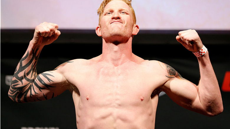 CINCINNATI, OH - MAY 09:  Ed Herman weighs in during the UFC weigh-in at the U.S. Bank Arena on May 9, 2014 in Cincinnati, Ohio. (Photo by Josh Hedges/Zuffa LLC/Zuffa LLC via Getty Images)