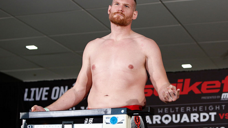 OKLAHOMA CITY, OK - JANUARY 11:  Josh Barnett weighs in during the Strikeforce weigh-in event on January 11, 2013 at Chesapeake Energy Arena in Oklahoma City, Oklahoma. (Photo by Esther Lin/Forza LLC/Forza LLC via Getty Images)