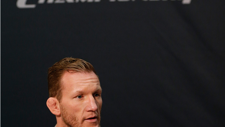LAS VEGAS, NV - NOVEMBER 27:  Gray Maynard interacts with media during media day ahead of The Ultimate Fighter season 18 live finale inside the Mandalay Bay Events Center on November 27, 2013 in Las Vegas, Nevada. (Photo by Josh Hedges/Zuffa LLC/Zuffa LLC