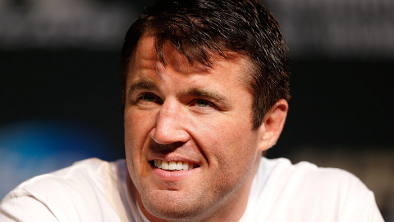 LAS VEGAS, NV - NOVEMBER 14: Chael Sonnen interacts with media during the final UFC 167 pre-fight press conference inside the Hollywood Theatre at the MGM Grand Hotel/Casino on November 14, 2013 in Las Vegas, Nevada. (Photo by Josh Hedges/Zuffa LLC/Zuffa