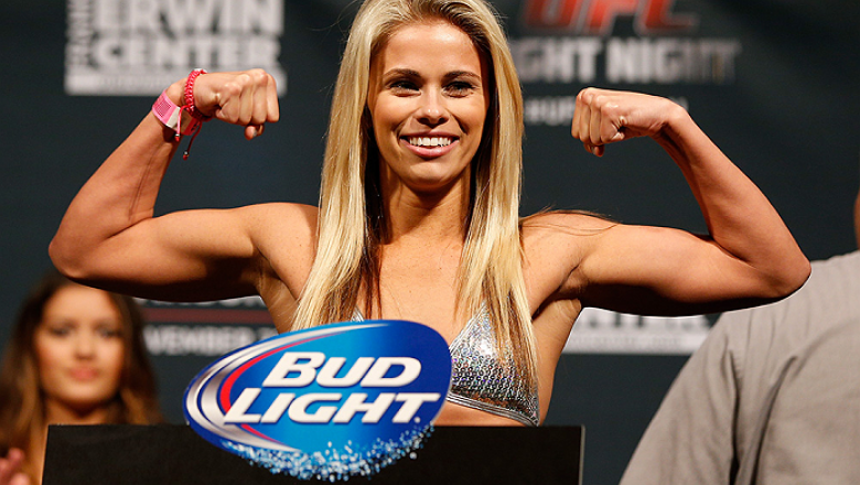 AUSTIN, TX - NOVEMBER 21:  Paige VanZant weighs in during the UFC weigh-in at The Frank Erwin Center on November 21, 2014 in Austin, Texas.  (Photo by Josh Hedges/Zuffa LLC/Zuffa LLC via Getty Images)