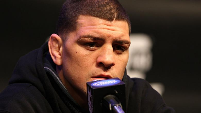 LAS VEGAS, NV - FEBRUARY 02:  Nick Diaz attends the UFC 143 final pre-fight press conference at the Mandalay Bay Hotel & Casino on February 2, 2012 in Las Vegas, United States.  (Photo by Josh Hedges/Zuffa LLC/Zuffa LLC via Getty Images) *** Local Caption