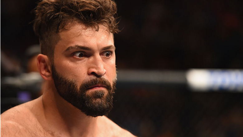 LAS VEGAS, NV - MAY 23: Andrei Arlovski prepares to face Travis Browne in their heavyweight bout during the UFC 187 event at the MGM Grand Garden Arena on May 23, 2015 in Las Vegas, Nevada.  (Photo by Josh Hedges/Zuffa LLC/Zuffa LLC via Getty Images)