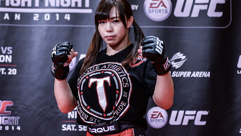 TOKYO, JAPAN - SEPTEMBER 16:  Rin Nakai of Japan holds a UFC Fight Night open workout for media at the Hilton Tokyo on September 16, 2014 in Tokyo, Japan.  (Photo by Keith Tsuji/Zuffa LLC/Zuffa LLC via Getty Images)
