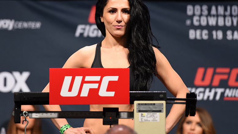ORLANDO, FL - DECEMBER 18:   Randa Markos weighs in during the UFC weigh-in at the Orange County Convention Center on December 18, 2015 in Orlando, Florida. (Photo by Josh Hedges/Zuffa LLC/Zuffa LLC via Getty Images)