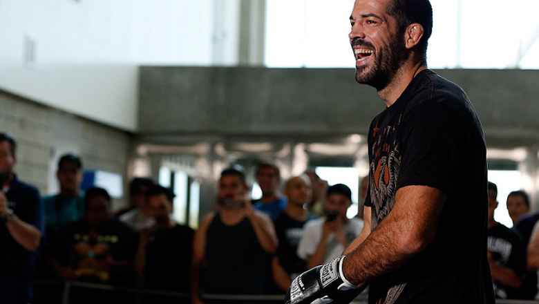 SAN JOSE, CA - JULY 24: Matt Brown holds an open training session for media and fans at the SAP Center on July 24, 2014 in San Jose, California. (Photo by Josh Hedges/Zuffa LLC/Zuffa LLC via Getty Images)