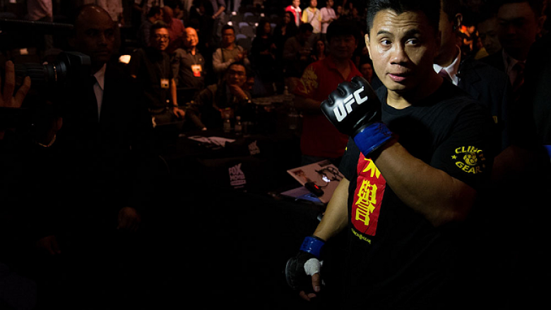MACAU, MACAU - NOVEMBER 10:  Cung Le exits the arena after knocking out Rich Franklin during their middleweight bout at the UFC Macao event inside CotaiArena on November 10, 2012 in Macau, Macau.  (Photo by Josh Hedges/Zuffa LLC/Zuffa LLC via Getty Images