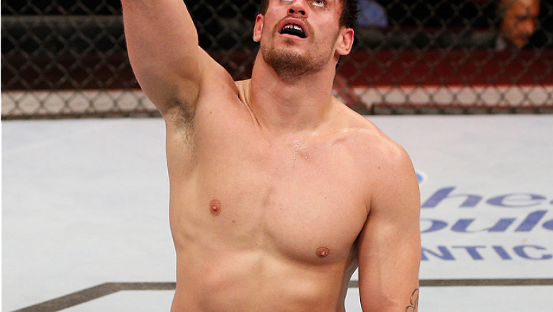 SAO PAULO, BRAZIL - MAY 31:  Antonio Carlos Junior celebrates after the conclusion of his heavyweight fight against Vitor Miranda during the UFC Fight Night event at the Ginasio do Ibirapuera on May 31, 2014 in Sao Paulo, Brazil. (Photo by Josh Hedges/Zuf
