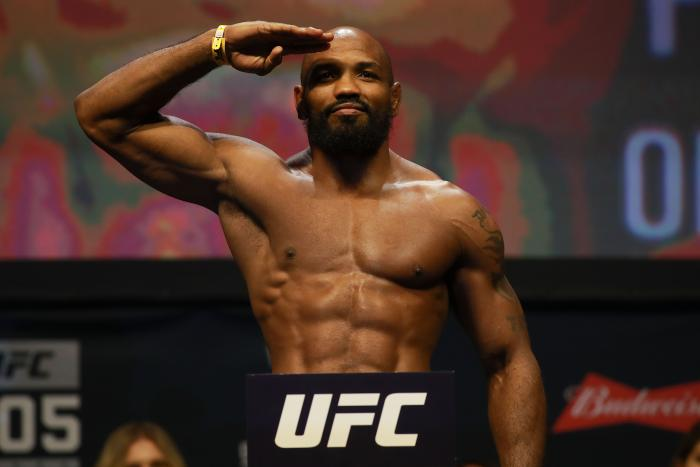 Yoel Romero at Madison Square Garden on November 11, 2016 in New York City.