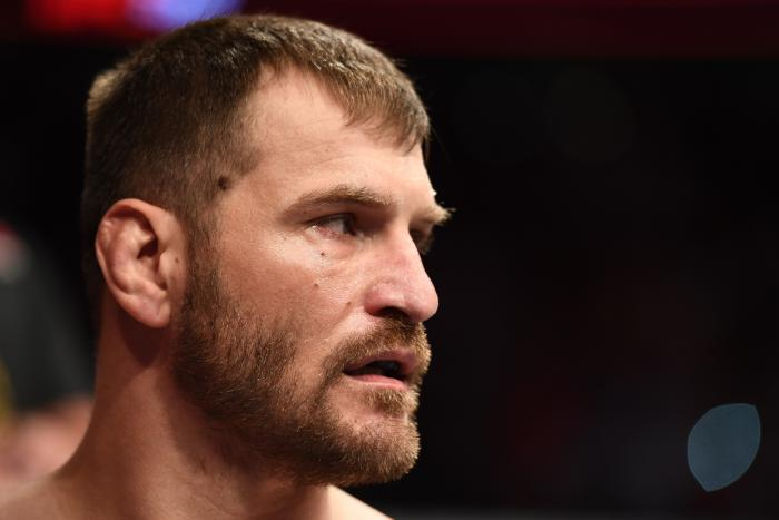 LAS VEGAS, NV - JULY 07: Stipe Miocic prepares to face Daniel Cormier in their UFC heavyweight championship fight during the UFC 226 event inside T-Mobile Arena on July 7, 2018 in Las Vegas, Nevada. (Photo by Josh Hedges/Zuffa LLC/Zuffa LLC via Getty Images)