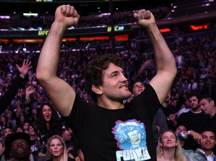 NEW YORK, NY - NOVEMBER 03:  Ben Askren is seen in attendance during the UFC 230 event inside Madison Square Garden on November 3, 2018 in New York, New York. (Photo by Jeff Bottari/Zuffa LLC via Getty Images)