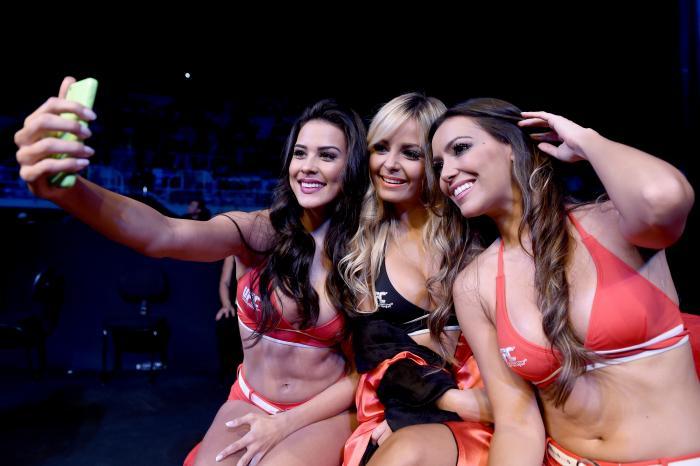 UFC Octagon Girls Camila Oliveira, Jhenny Andrade and Luciana Andrade
