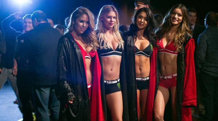 Octagon Girls Brittney Palmer, Chrissy Blair, Arianny Celeste and Vanessa Hanson