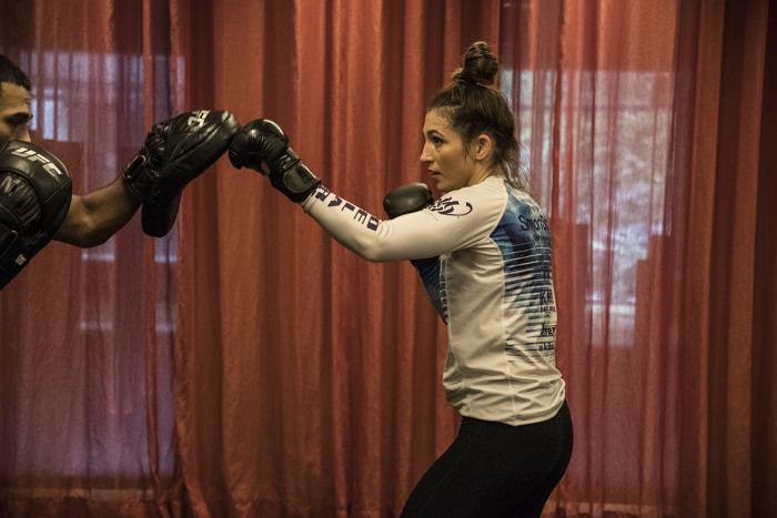 UFC flyweight Montana De La Rosa ahead of her fight at UFC 234 in Melbourne, Australia. (Juan Cardenas/UFC)