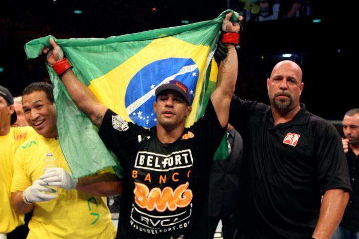 Ex-campeão dos meio-pesados, o carioca Vitor Belfort participou de três eventos no Rio: UFC 142, UFC 212 e UFC 224.