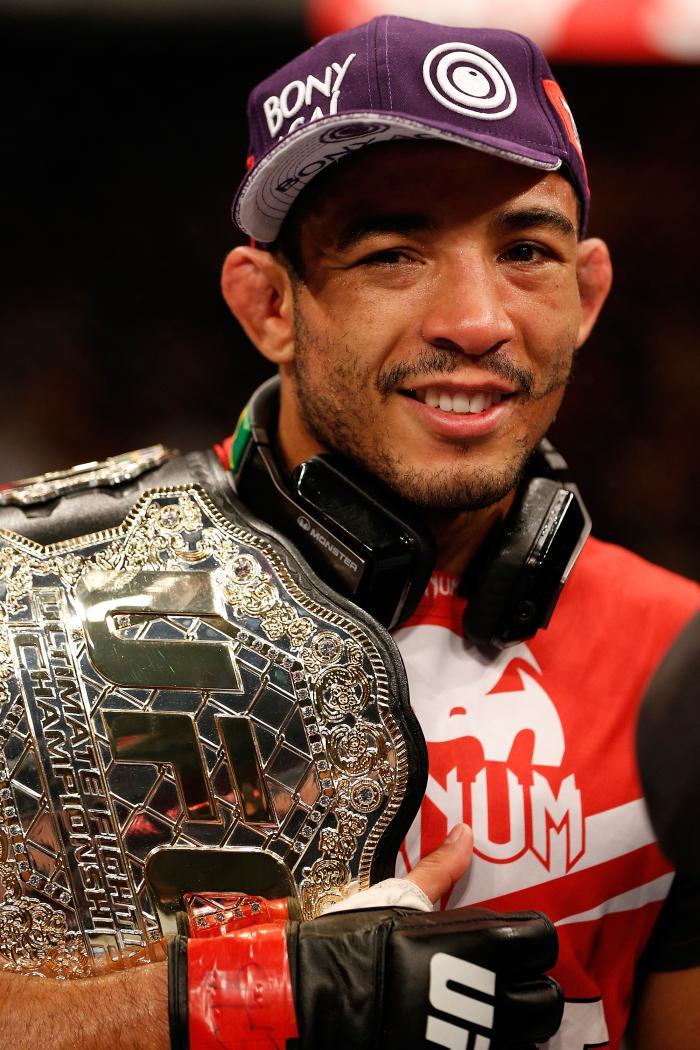 """O apelido de """"Rei do Rio"""" não é à toa. José Aldo fará no UFC 237 sua quinta luta na cidade. Ele já esteve no UFC 142, UFC 163, UFC 179 e UFC 212."""