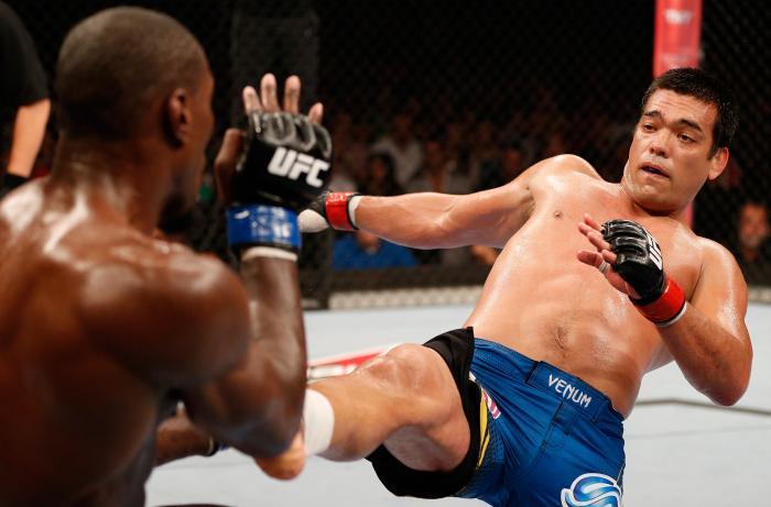 """O """"Dragão"""" Lyoto Machida, ex-campeão dos meio-pesados, participou de duas edições do UFC no Rio, o UFC 163 e o UFC 224."""