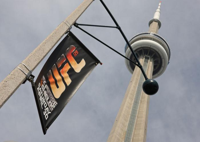 Outside CN Tower