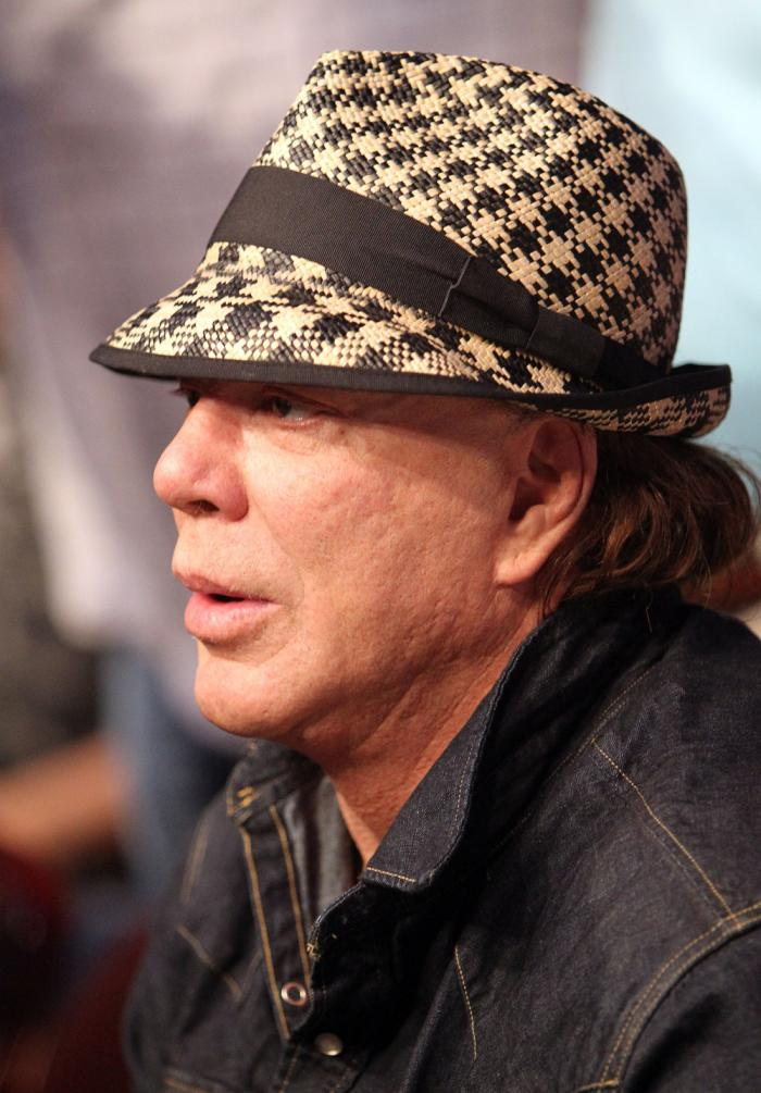 UFC 133:Actor Mickey Rourke attends the fight.