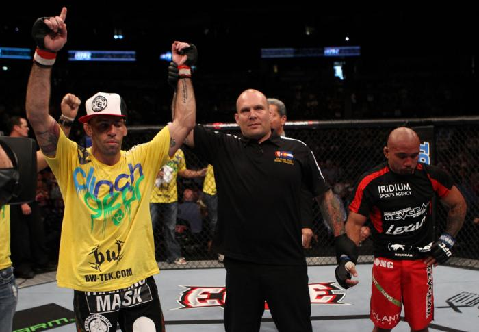 Junior Assuncao celebrates his win