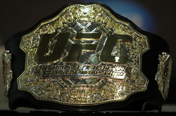 Ultimate Fighting Championship belt