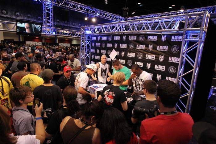 "Autograph signings with (L-R) Joey Beltran, Jason ""Mayhem"" Miller, Matt Mitrione and Phil Davis"