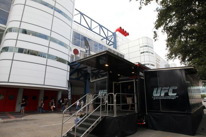 Octagon Nation Tour outside the Fan Expo