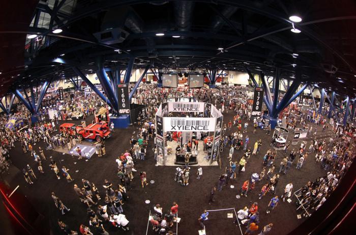 UFC fans attend the UFC Fan Expo