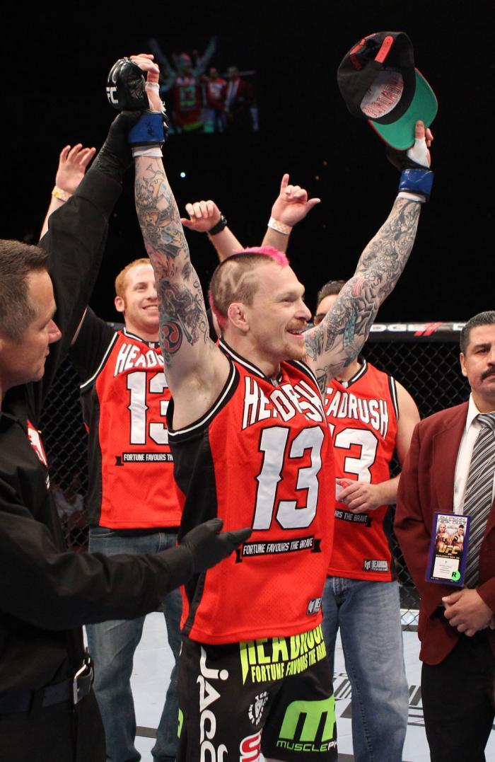 Bart Palaszewski celebrates his win