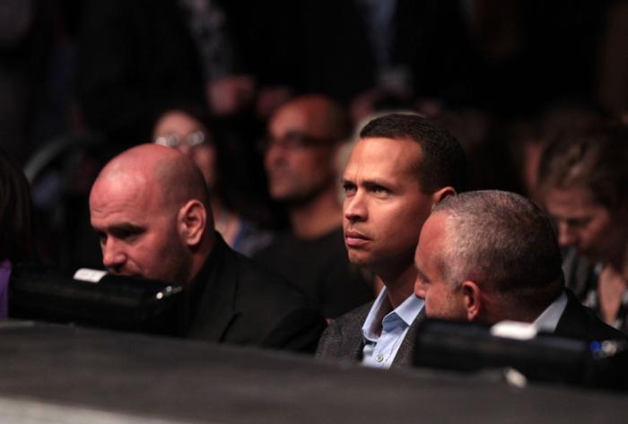 New York Yankees third baseman Alex Rodriguez attends the UFC 137