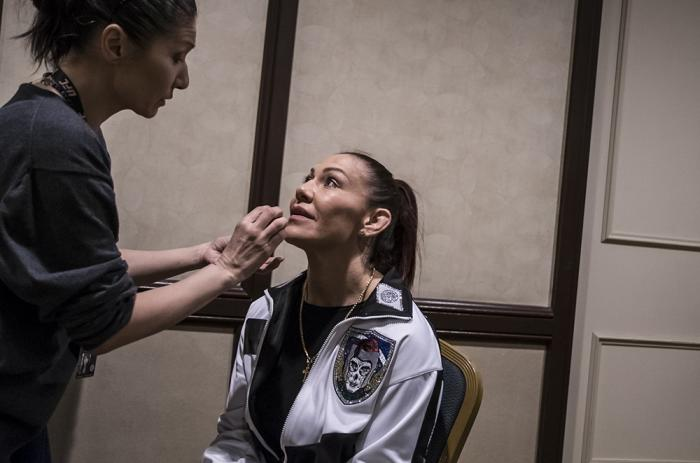 Cris Cyborg during UFC 232 fight week