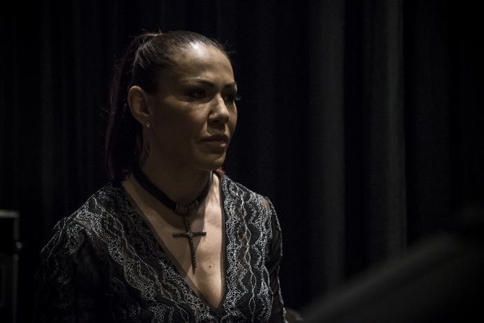Cris Cyborg at the UFC 232 press conference