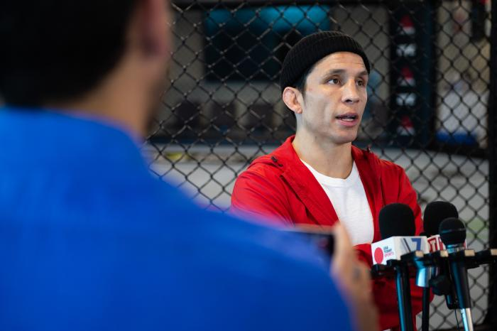 Joseph Benavides UFC Brooklyn Media Day at the UFC Performance Institute