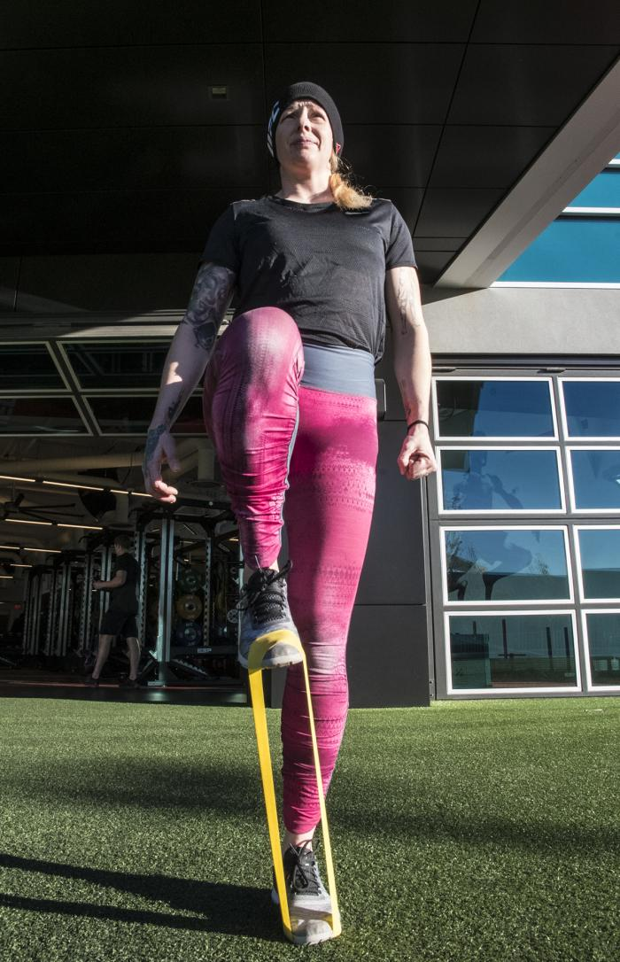 Joanne Calderwood entrenando en el UFC Performance Institute para UFC Brooklyn