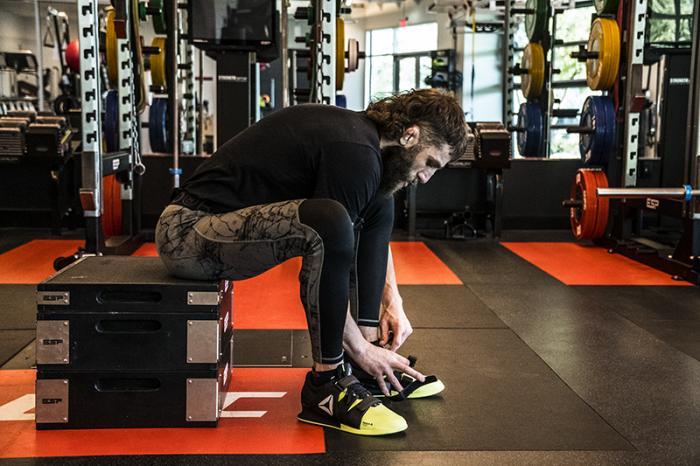 Las Vegas 3/15/18 - Michael Chiesa training at the UFC Performance Insitute in preparation for UFC 223. (Photo credit Juan Cardenas)