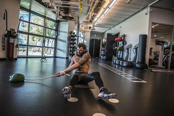 Las Vegas 3/15/18 - Michael Chiesa training at the UFC Performance Insitute in preparation for UFC 223. (Photo credit Juan Cardenas)