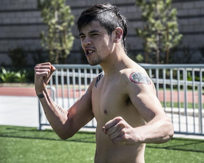 Las Vegas 3/20/18 - Flyweight Brandon Moreno of Mexico training at the UFC Performance Institute in Las Vegas in preparation for UFC 223.