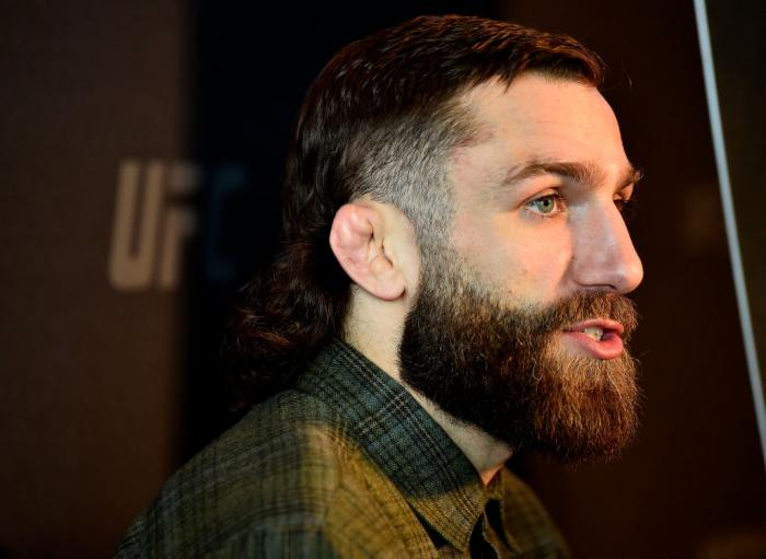 BROOKLYN, NY - APRIL 05:  Michael Chiesa interacts with media during the UFC 223 Ultimate Media Day inside Barclays Center on April 5, 2018 in Brooklyn, New York. (Photo by Jeff Bottari/Zuffa LLC/Zuffa LLC via Getty Images)