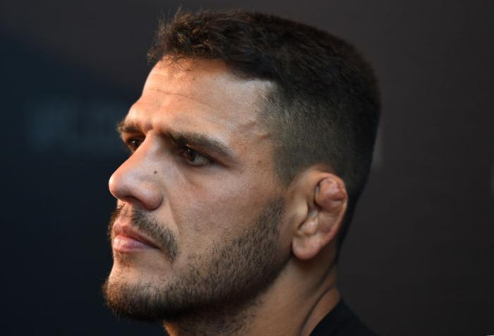 CHICAGO, ILLINOIS - JUNE 07:   Rafael Dos Anjos of Brazil interacts with media during the UFC 225 Ultimate Media Day at the United Center on June 7, 2018 in Chicago, Illinois. (Photo by Josh Hedges/Zuffa LLC/Zuffa LLC via Getty Images)
