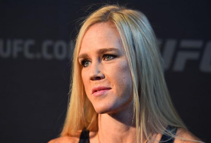 CHICAGO, ILLINOIS - JUNE 07:   Holly Holm interacts with media during the UFC 225 Ultimate Media Day at the United Center on June 7, 2018 in Chicago, Illinois. (Photo by Josh Hedges/Zuffa LLC/Zuffa LLC via Getty Images)