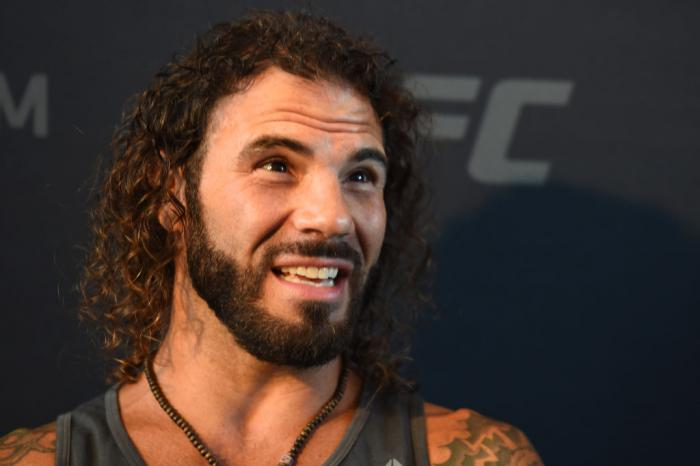 CHICAGO, ILLINOIS - JUNE 07:   Clay Guida interacts with media during the UFC 225 Ultimate Media Day at the United Center on June 7, 2018 in Chicago, Illinois. (Photo by Josh Hedges/Zuffa LLC/Zuffa LLC via Getty Images)